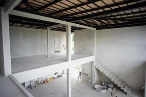 Design moderne intérieur perspective de maison en construction photo