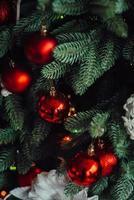 décorations festives du nouvel an aux couleurs chaudes photo