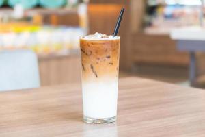 café latte glacé photo