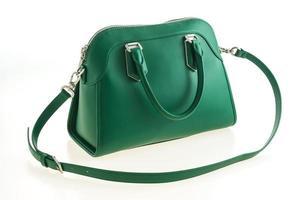 belle élégance et sac à main vert de mode de luxe photo