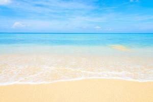 plage de la mer tropicale photo