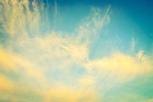 ciel de nuage vintage