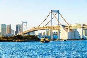 Pont arc-en-ciel dans la ville de tokyo au japon