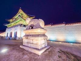 Palais de Gyeongbokgung, ville de Séoul en Corée du Sud