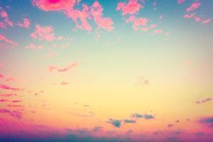 nuage vintage sur fond de ciel
