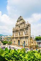 ruines de st. Paul Church dans la ville de Macao, Chine