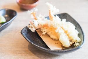 crevettes tempura frites
