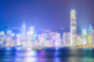 Skyline de Hong Kong défocalisé abstraite