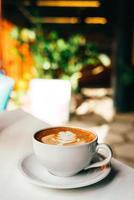latte dans un café photo