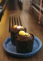 cupcakes de Pâques sur une assiette photo
