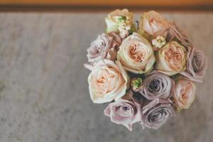 vue de dessus d'un bouquet photo