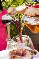 alcool de fruits mélangé photo
