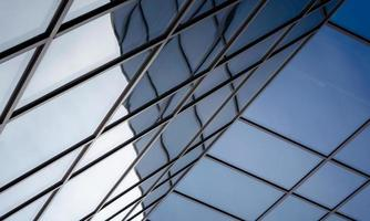 reflet du bâtiment moderne photo