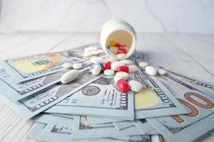 concept de coût des soins de santé photo