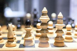 concept d & # 39; entreprise d & # 39; échecs, leadership et succès photo