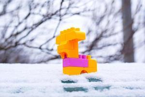 jouet noël hiver cerf dans la neige photo