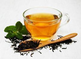 tasse de thé à la menthe photo