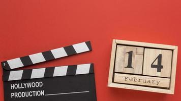 concept de la saint-valentin avec vivaneau de film photo