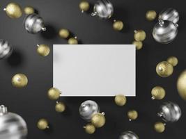 modèle de carte de Noël vierge photo