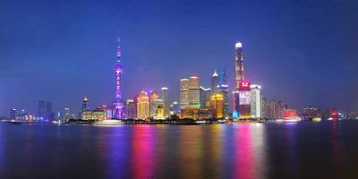 Toits de la ville de Shanghai, Shanghai, Chine photo