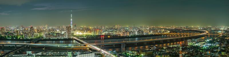 Paysage urbain de tokyo, japon, asie photo