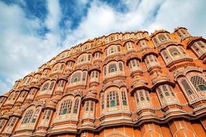 Hawa Mahal lors d'une journée ensoleillée, Jaipur, Rajasthan, Inde photo