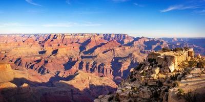 Grand Canyon par une journée ensoleillée, Arizona, USA photo