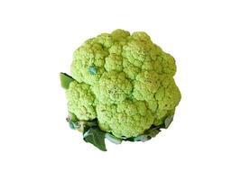 Tête de brocoli isolé sur fond blanc photo