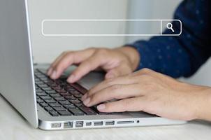 concept de recherche en ligne photo