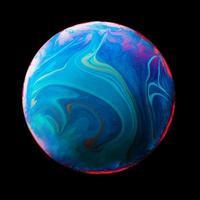 abstrait avec texture de couleur teinte sphère bleue et rose. résolution et belle photo de haute qualité
