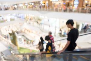 flou centre commercial pour le fond photo