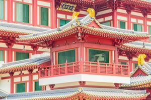 Beau temple de la dent de Bouddha à Singapour