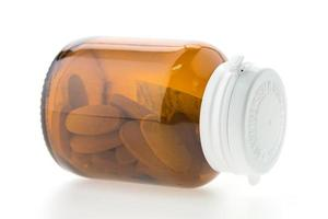 bouteille de pilule isolée photo