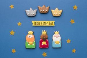 trois décorations du jour du roi photo