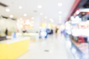 centre commercial défocalisé photo