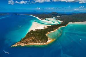 Whitehaven Beach dans le Queensland en Australie photo