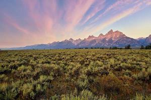 lever du soleil au parc national de grand teton photo