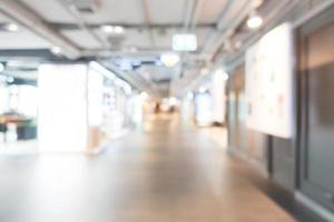 Intérieur du centre commercial flou pour fond de shopping photo