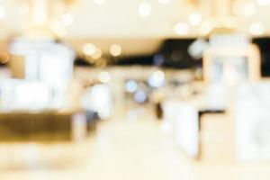 Résumé défocalisé de l'intérieur du centre commercial pour le fond photo