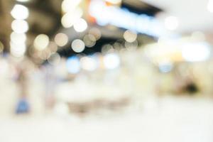 Flou abstrait et bokeh centre commercial défocalisé intérieur du grand magasin photo