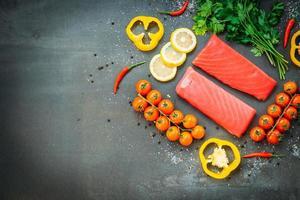 viande de filet de thon cru photo