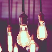 ampoule vintage et rétro photo