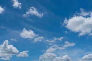ciel bleu d'été et fond abstrait nuage blanc photo