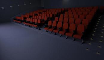 salle de cinéma vide éclairée photo