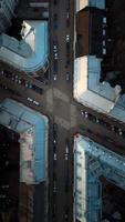 rues de la ville d'en haut photo