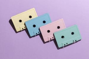 arrangement de cassettes vintage photo