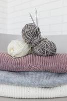 fil de laine à tricoter close up photo