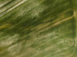 vue aérienne des terres rurales agricoles