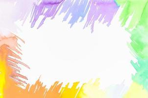 cadre fait avec des coups de pinceau colorés photo