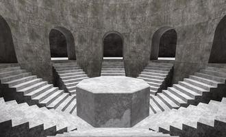 podium produit minimal avec escaliers à l'intérieur d'une pièce photo